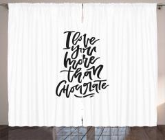 Chocolate Phrase Curtain