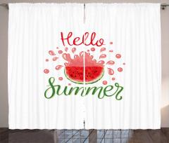 Cartoon Watermelon Curtain