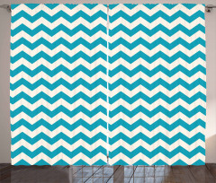 Abstract Chevron Lines Curtain