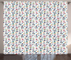 Teenager Fun Pattern Curtain