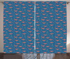 Crabs Anchors Curtain