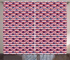 Nautical Baby Pattern Curtain