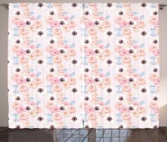 Romantic Rose Anemone Curtain