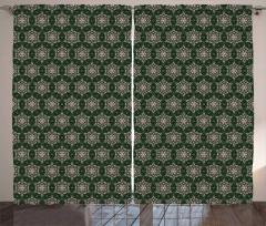 Mosaic Leaf Ornaments Curtain