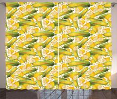 Organic Vegetable Stalks Curtain