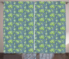 Spring Garden Doodle Curtain