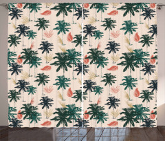 Exotic Hawaii Palm Leaves Curtain