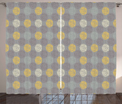 Dotted Circle Pattern Curtain
