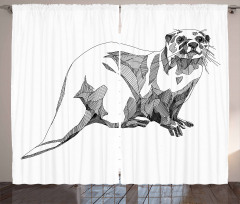 Sketch Otter Curtain