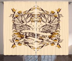 Abstract Animal Curtain