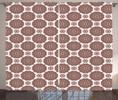 Mandala Flower Pattern Curtain