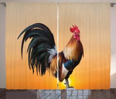 Farm Animal Sunrise Curtain
