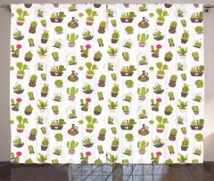 Garden Plants Succulents Curtain