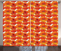 Hand Paint Style Blossoms Curtain