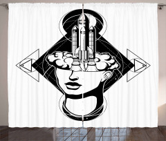 Woman Rocket Curtain