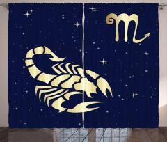 Night Sky Stars Curtain