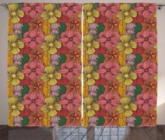 Retro Romantic Blooms Curtain