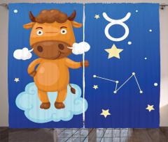 Bull on a Cloud Curtain