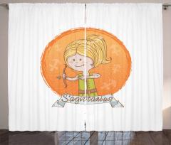 Cartoon Girl Bow Curtain