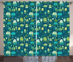 Funny Sea Creatures Curtain