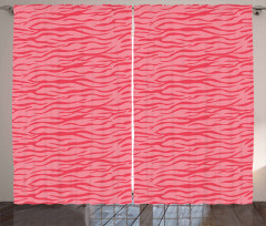 Wavy Stripes Safari Curtain