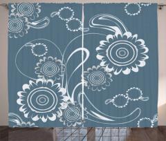 Romantic Blossom Petals Curtain