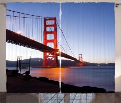 San Francisco Bridge Curtain