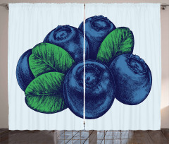 Vintage Blueberry Curtain