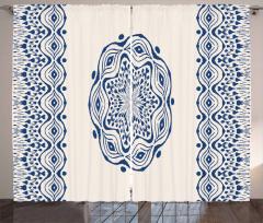 Folk Gypsy Boho Motif Curtain