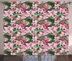 Hawaiian Spring Blossoms Curtain