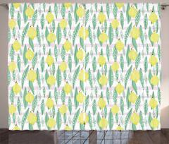 Lemon Leaves Curtain