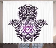 Religious Hand Symbol Curtain