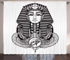 Vintage Pharaoh Tattoo Curtain