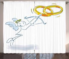 Funny Cupid Stickman Curtain