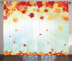 Fallen Maple Leaves Curtain