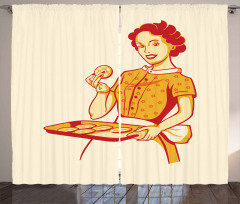 Housewife Cookies Curtain