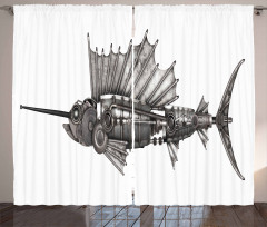 Robot Sailfish Animal Curtain