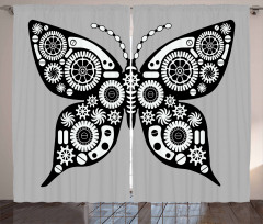 Silhouette Butterfly Curtain