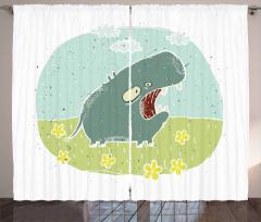 Roaring Hippo Clouds Curtain