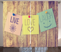 Live Love and Laugh Notes Curtain