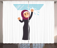 Religious Woman Glass Curtain