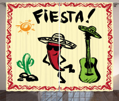 Mexican Party Red Pepper Curtain