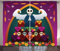 Angel Skull Altar Curtain