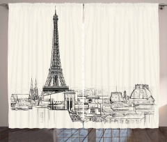 Paris over Roofs Curtain