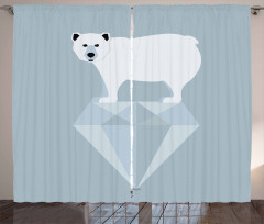 Geometric Animal Curtain