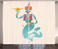Genie with Magic Tool Curtain