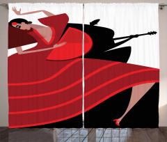 Baile Flamenco Theme Curtain