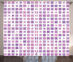 Random Ombre Square Tiles Curtain