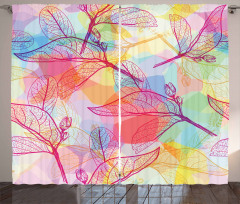 Colorful Abstract Foliage Curtain
