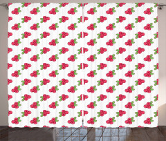 Vibrant Cowberries Garden Curtain